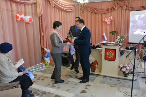Поздравление главы Киквидзенского района ветеранов ЗАГС